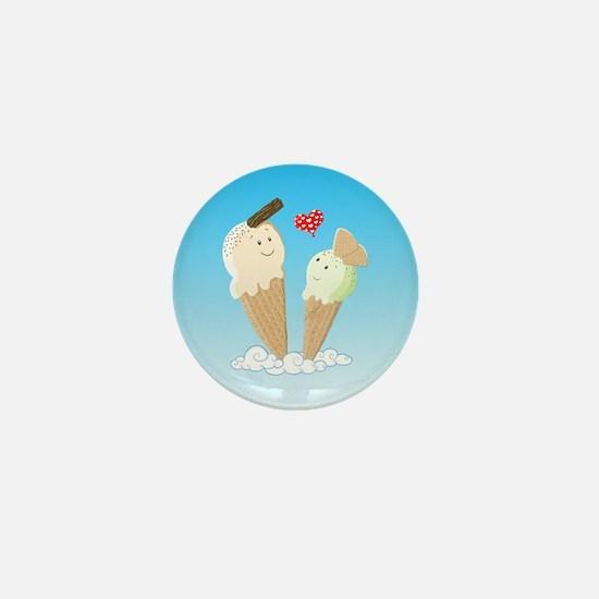 Ice Creams In Love Mini Button