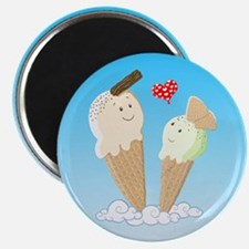 Ice Creams In Love Magnets