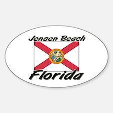 Jensen Beach Florida Oval Decal