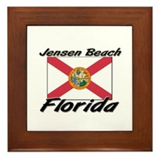 Jensen Beach Florida Framed Tile