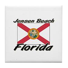 Jensen Beach Florida Tile Coaster