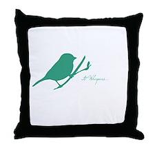 Cute Bird whisperer Throw Pillow