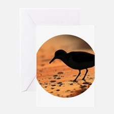 Sandpiper Silhouette Greeting Cards