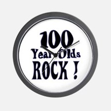 100 Year Olds Rock ! Wall Clock