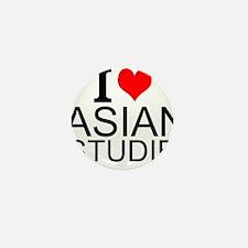 I Love Asian Studies Mini Button