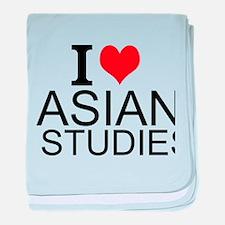 I Love Asian Studies baby blanket