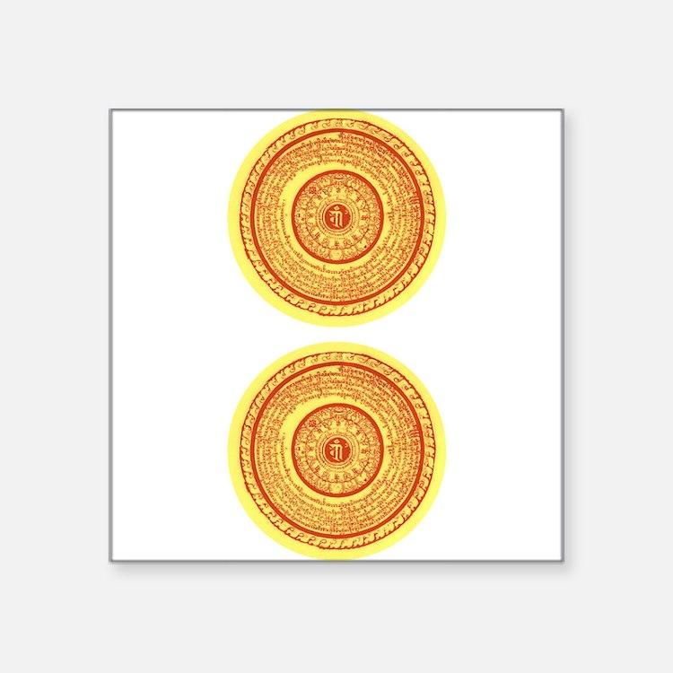 """Cute Vertical Square Sticker 3"""" x 3"""""""