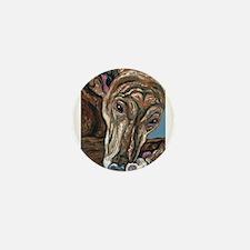 Brindle Greyhound Mini Button