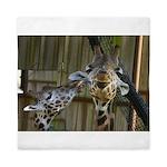 Giraffe Baby Mama Kiss Queen Duvet