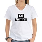 GO MERIDEN Women's V-Neck T-Shirt