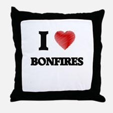 I Love BONFIRES Throw Pillow