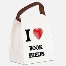 I Love BOOK SHELFS Canvas Lunch Bag