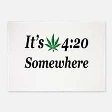 Its 420 Somewhere 5'x7'Area Rug