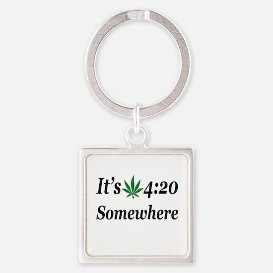 Its 420 Somewhere Keychains