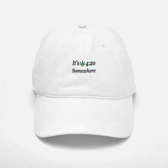 Its 420 Somewhere Baseball Baseball Baseball Cap