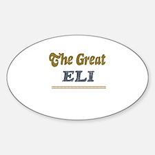 Eli Oval Decal
