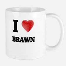 I Love BRAWN Mugs