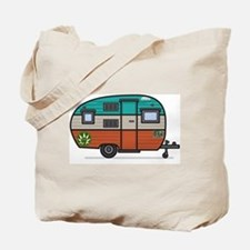 Vintage Fan Travel Trailer Tote Bag