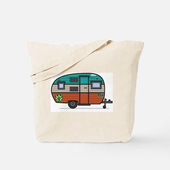 Vintage Fan Travel Trailer Tote Bag