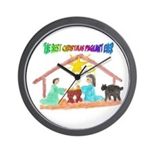 Christmas Pageant Manger Wall Clock
