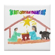 Christmas Pageant Manger Tile Coaster