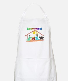 Christmas Pageant Manger BBQ Apron