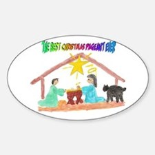 Christmas Pageant Manger Oval Decal