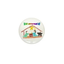 Christmas Pageant Manger Mini Button (10 pack)