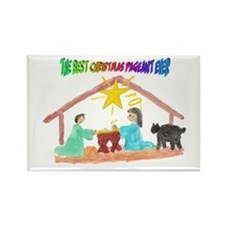 Christmas Pageant Manger Rectangle Magnet