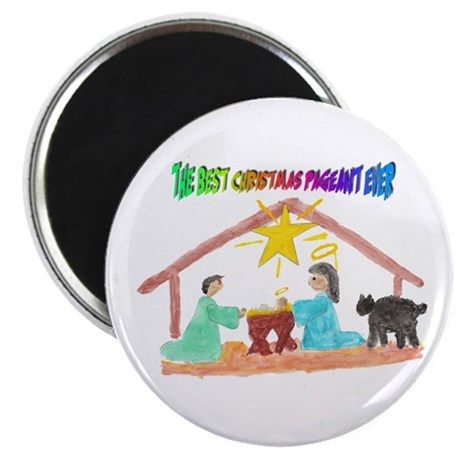 """Christmas Pageant Manger 2.25"""" Magnet (10 pack)"""