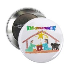 "Christmas Pageant Manger 2.25"" Button (10 pack)"