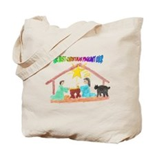 Christmas Pageant Manger Tote Bag