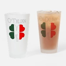 Funny Clover Drinking Glass