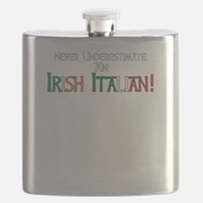 Never Underestimate Irish Italian Pride Flask