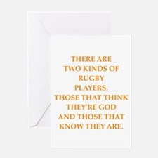 rugby Greeting Cards