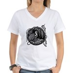 Poe Vignette 8 Women's V-Neck T-Shirt