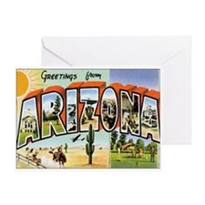 Arizona Postcard Greeting Card