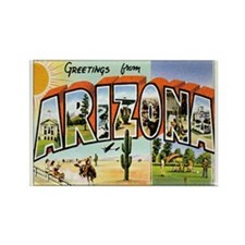 Arizona Postcard Rectangle Magnet