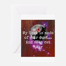 galaxy cat soul Greeting Cards