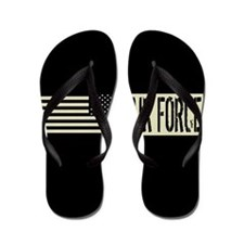 Air Force & Black Military Backwards De Flip Flops