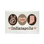 Peace Love Indianapolis Rectangle Magnet (10 pack)