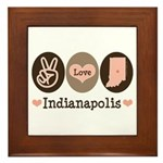 Peace Love Indianapolis Framed Tile