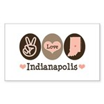 Peace Love Indianapolis Rectangle Sticker