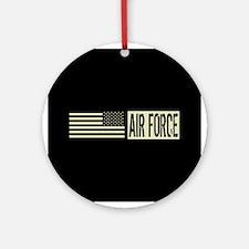 U.S. Air Force: Air Force (Black Fl Round Ornament