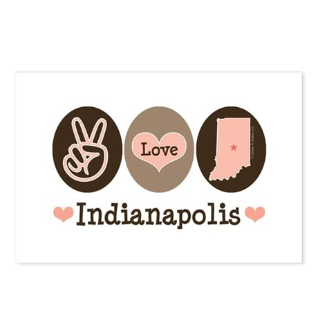Peace Love Indianapolis Postcards (Package of 8)