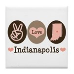 Peace Love Indianapolis Tile Coaster