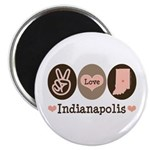 Peace Love Indianapolis Magnet