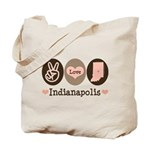 Peace Love Indianapolis Tote Bag