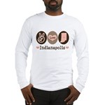 Peace Love Indianapolis Long Sleeve T-Shirt