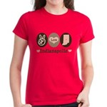 Peace Love Indianapolis Women's Dark T-Shirt